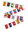 ASIAN COUNTRIES 30' FLAG STRING