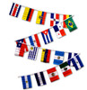 LATIN AMERICA COUNTRIES 30' FLAG STRING