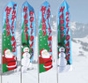 16 FT SWOOPER FLAG POLE W/ GROUND SPIKE & BANNER (6pcs Set )
