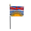 """BRITISH COLOMBIA 4X6"""" TABLE TOP FLAG"""