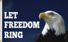 LET FREEDOM RING 3X5' NYLON FLAG