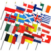 "20 EUROPEAN COUNTRIES 4X6"" TABLE TOP FLAGS ONLY SET"