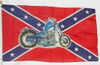 CONFEDERATE MOTORCYCLE 3X5' S-POLY FLAG