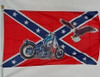 CONFEDERATE MOTORCYCLE EAGLE 3X5' S-POLY FLAG