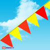 RED & YELLOW  105' SAFETY PENNANT STRING