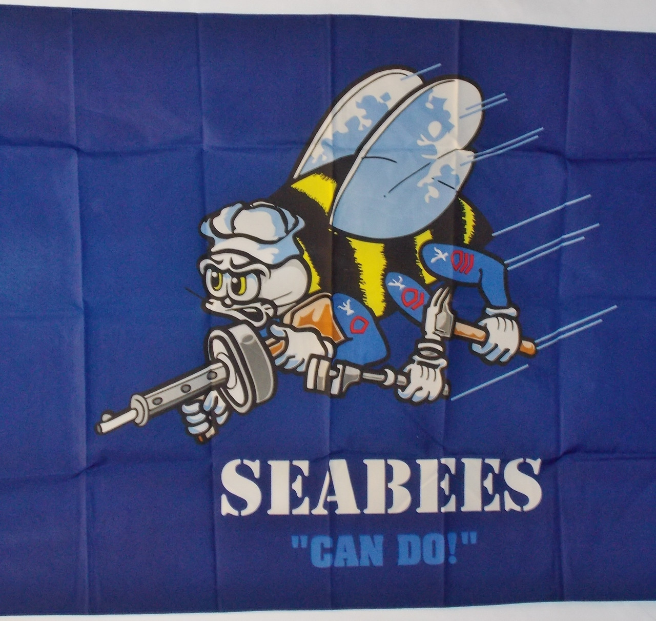 NAVY SEA BEES 3X5' S-POLY FLAG