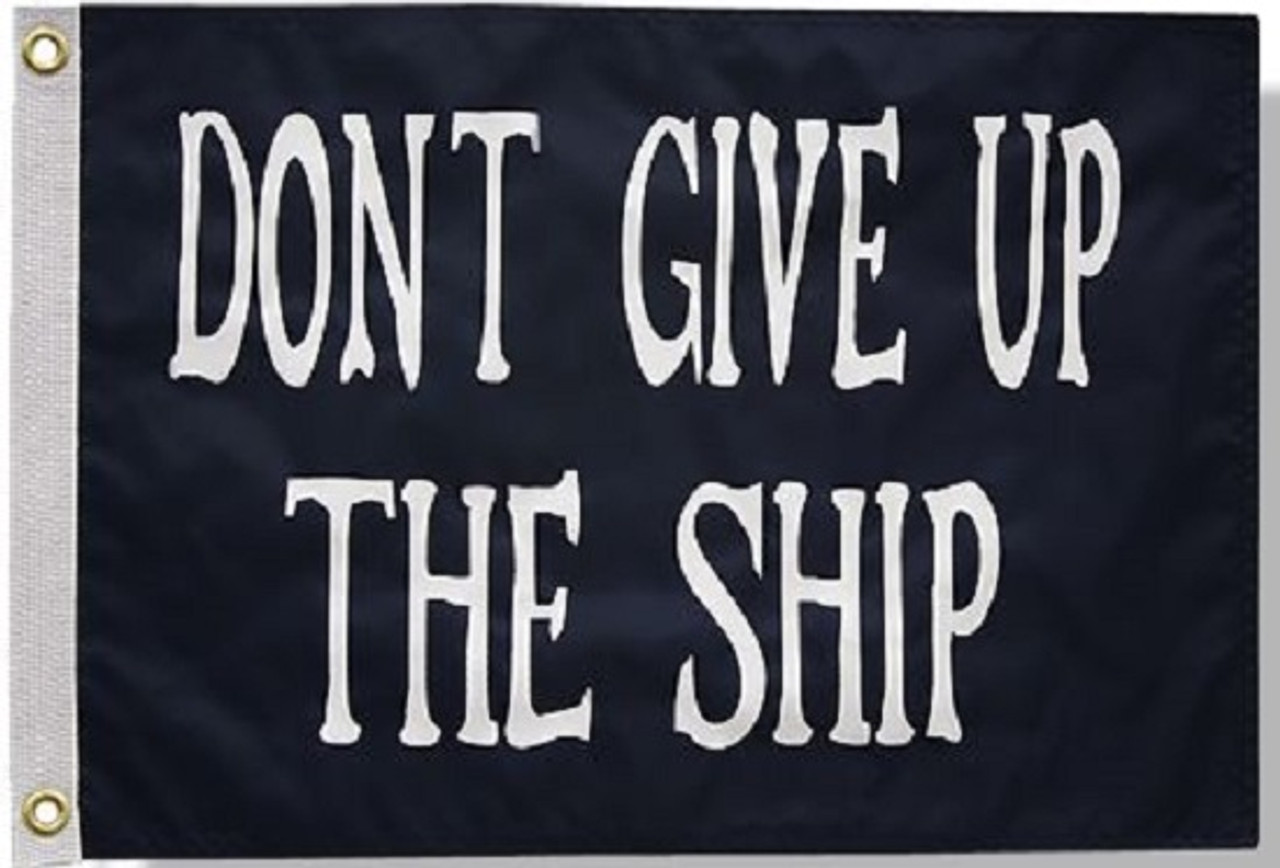 """COMMODORE PERRY 12X18"""" BOAT FLAG"""