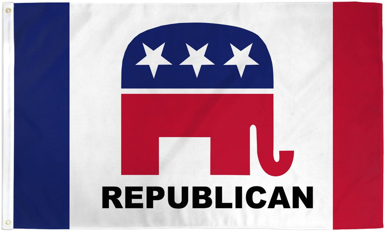 REPUBLICAN 3X5' S-POLY FLAG new