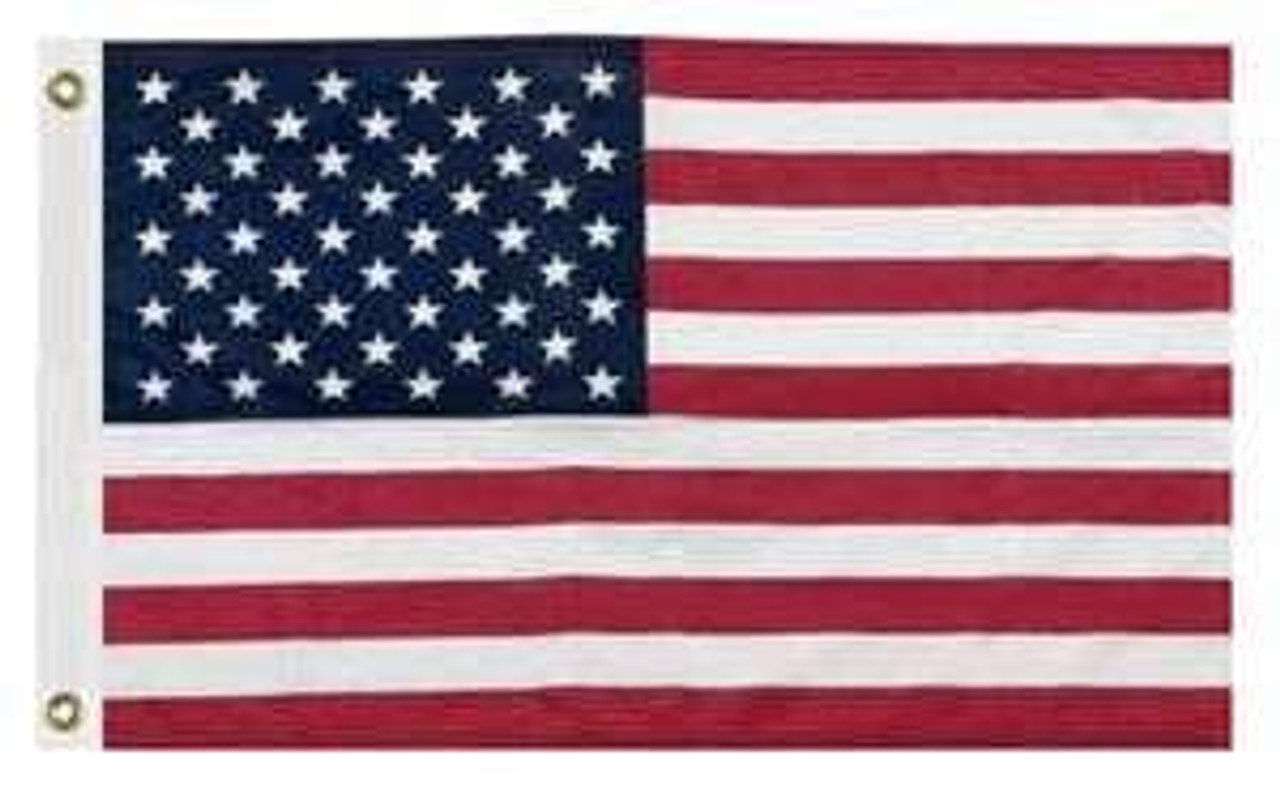 """US 12x18"""" flag  Fully dyed  Made in the USA"""
