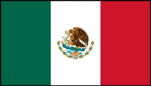 MEXICO 3X5' S-POLY FLAG