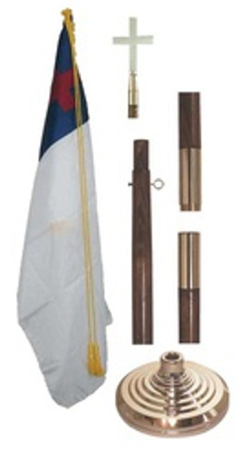 8' CHRISTIAN INDOOR FLAG SET