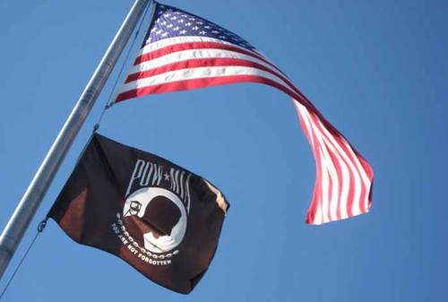 POW/MIA NYLON FLAGS DOUBLE SIDED 2X3' TO 8X12'