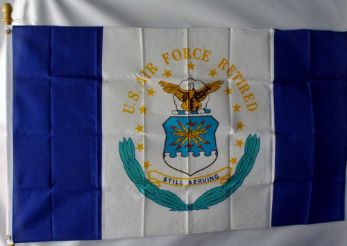 US AIR FORCE RETIRED 3X5' S-POLY FLAG