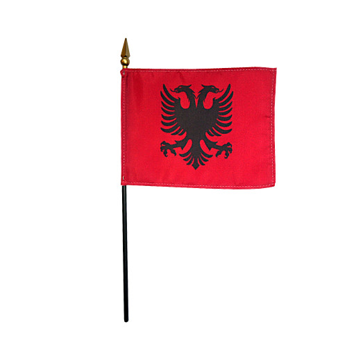 "ALBANIA 4X6"" TABLE TOP FLAG"