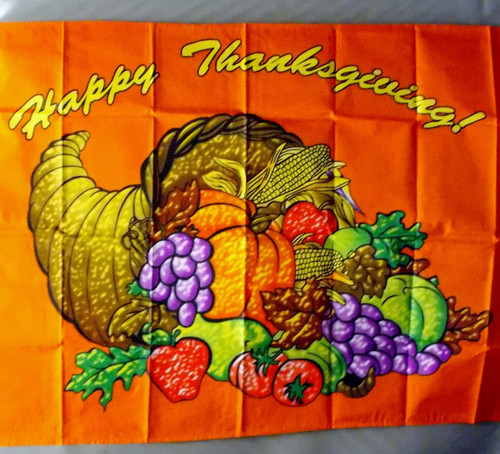 HAPPY THANKSGIVING 3X5' S-POLY FLAG
