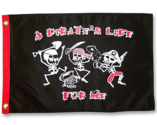 "A PIRATES LIFE FOR ME 12X18"" BOAT FLAG"