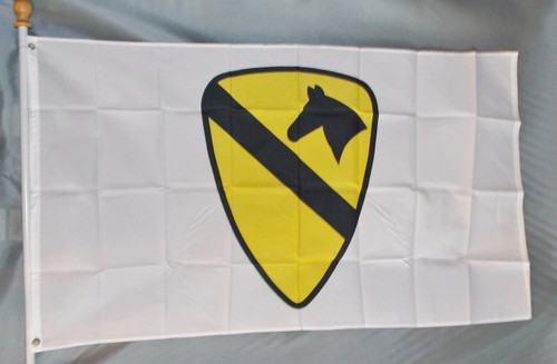 1ST CAVALRY 3X5' S-POLY FLAG