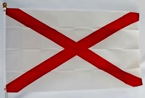 ALABAMA 3X5' S-POLY FLAG IMPORTED