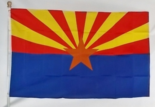 ARIZONA 3X5' S-POLY FLAG IMPORTED