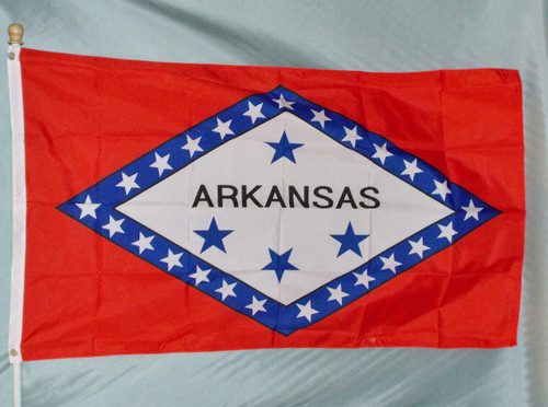ARKANSAS 3X5' S-POLY FLAG IMPORTED