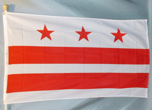 DISTRICT OF COLUMBIA 3X5' S-POLY FLAG IMPORTED