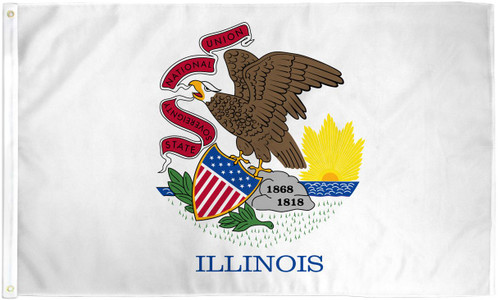 ILLINOIS 3X5' S-POLY FLAG IMPORTED