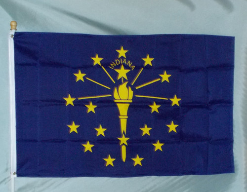 INDIANA 3X5' S-POLY FLAG IMPORTED