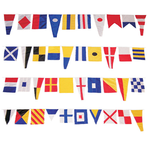 MARITIME Signal Code FLAG Set 100/% COTTON Set of Total 40 flag with CASE