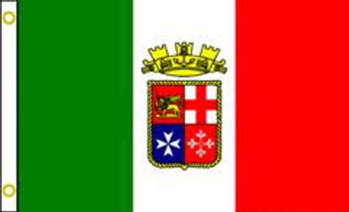 ITALIAN ENSIGN 3X5' S-POLY FLAG