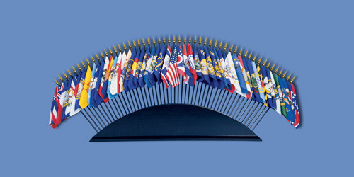 """TABLE BASE FOR 50 - 4X6"""" FLAGS"""