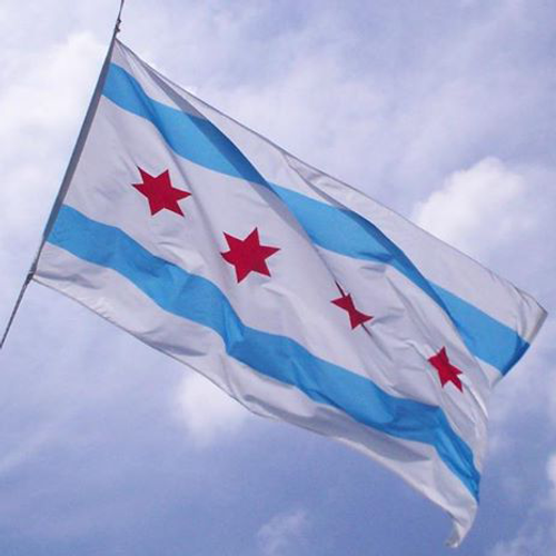 CITY OF CHICAGO 2X3' TO 8X12' NYLON FLAGS