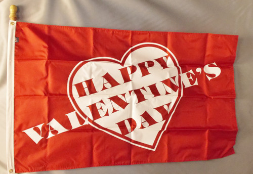 VALENTINE HEART 3X5' NYLON FLAG