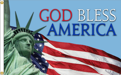 NEW GOD BLESS AMERICA 3X5' NYLON FLAG