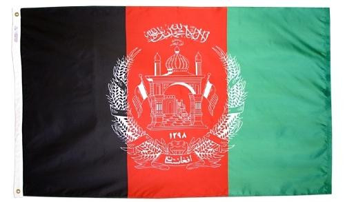 AFGHANISTAN NYLON FLAGS 2X3' TO 5X8'
