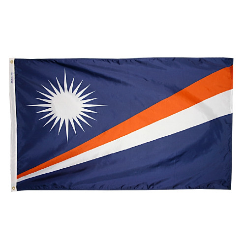 MARSHALL ISLANDS NYLON FLAGS 2X3' TO 5x8'