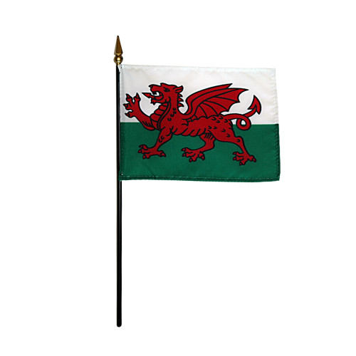 """WALES 4X6"""" TABLE TOP FLAG"""