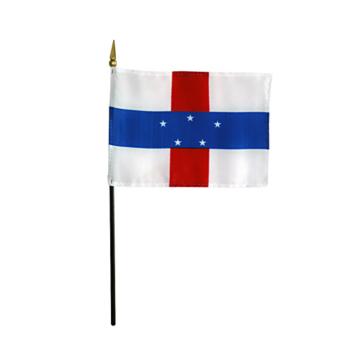 """NETHERLAND ANTILLES 4X6"""" TABLE TOP FLAG"""