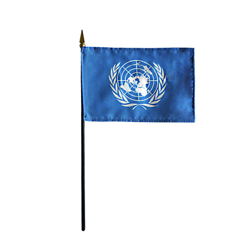 """UNITED NATIONS 4X6"""" TABLE TOP FLAG"""