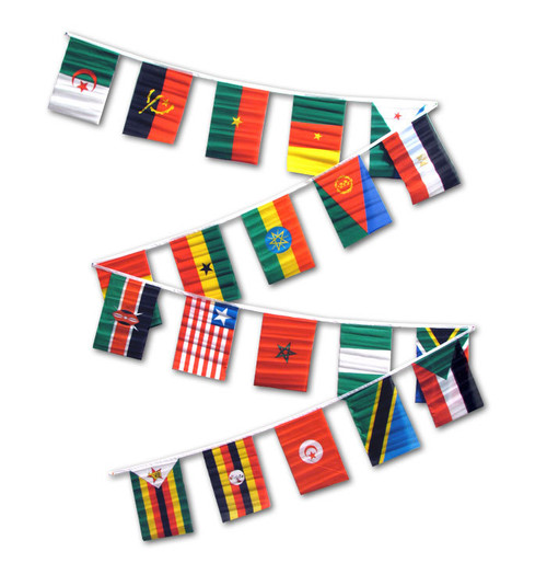 AFRICAN COUNTRIES 30' FLAG STRING