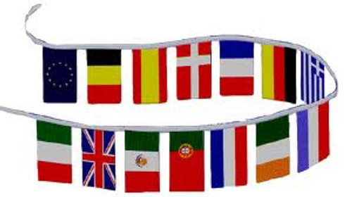 INTERNATIONAL COUNTRIES 30' FLAG STRING
