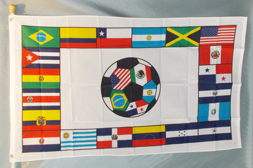 SOUTH AMERICAN SOCCER 3X5' POLY FLAG