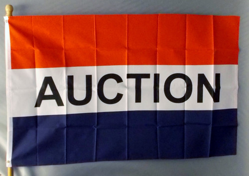 AUCTION 3X5' S-POLY FLAG