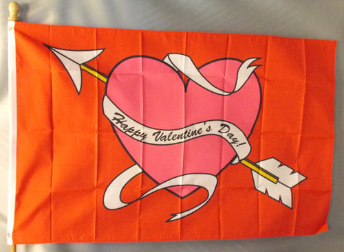 HAPPY VALENTINE'S DAY  3X5' S-POLY FLAG