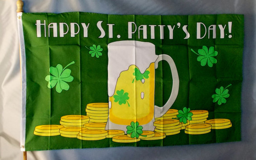 ST PATTY'S DAY 3X5' S-POLY FLAG
