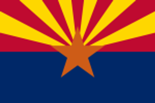 "ARIZONA NYLON FLAGS 12X18"" TO 10X15' US MADE"