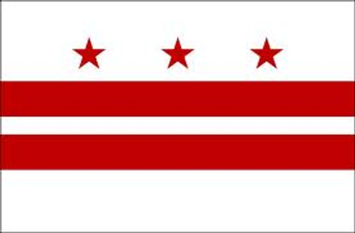 "DISTRICT OF COLUMBIA NYLON FLAGS 12X18"" TO 10X15' US MADE"