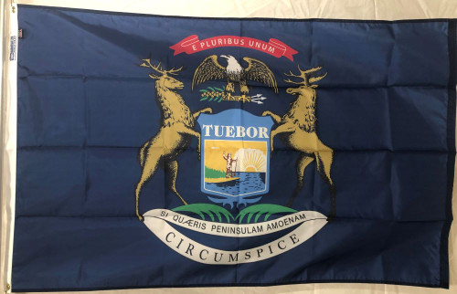 State of Michigan flag