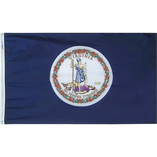 "VIRGINIA NYLON FLAGS 12X18"" TO 12X18' US MADE"
