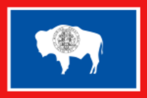 """WYOMING NYLON FLAGS 12X18"""" TO 10X15' US MADE"""