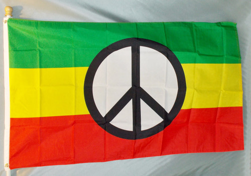 RASTA PEACE 3X5' S-POLY FLAG